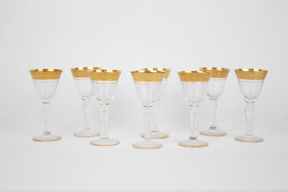 Gold Rimmed Cordial Glasses (set of 8)