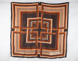 Brown Geometric Square Patterned Scarf