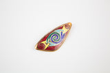 80s Enamel Triangular Brooch