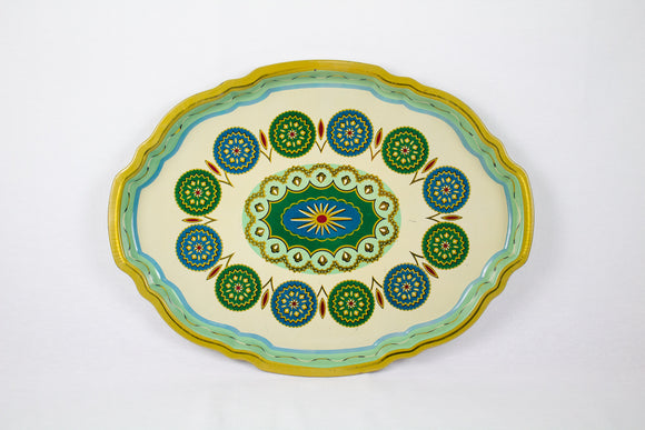 Midcentury Metal Serving Platter