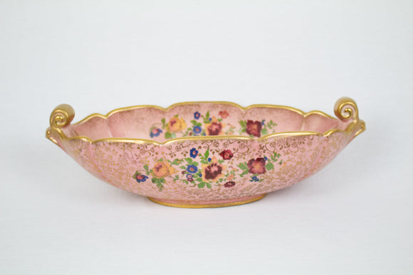 Pink Floral Console Bowl
