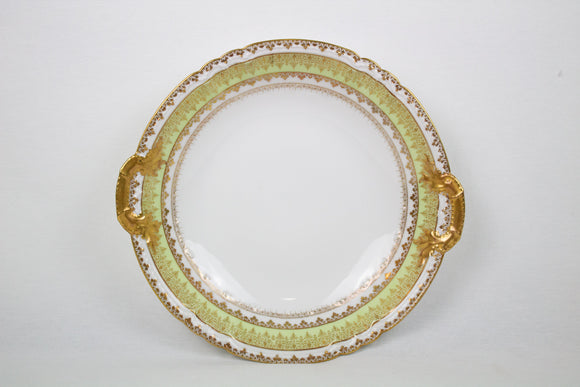 Light Green and Gold French Serving Plate