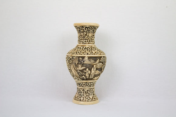 Italian Carved Resin Vase