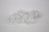 Natural Shaped Glass Votive Candleholders (set of 4)