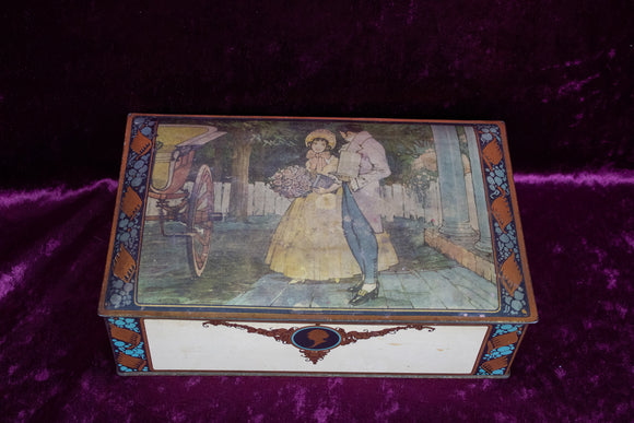 Romantic Vignette Metal Tin