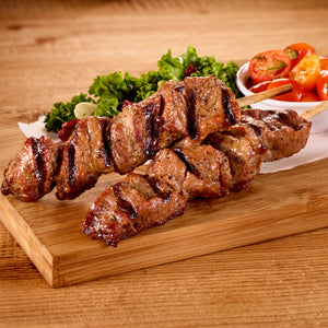 Fully Cooked Seasoned Sirloin Beef Skewers