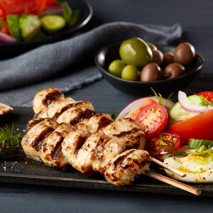 Fully Cooked Seasoned Chicken Breast Skewers