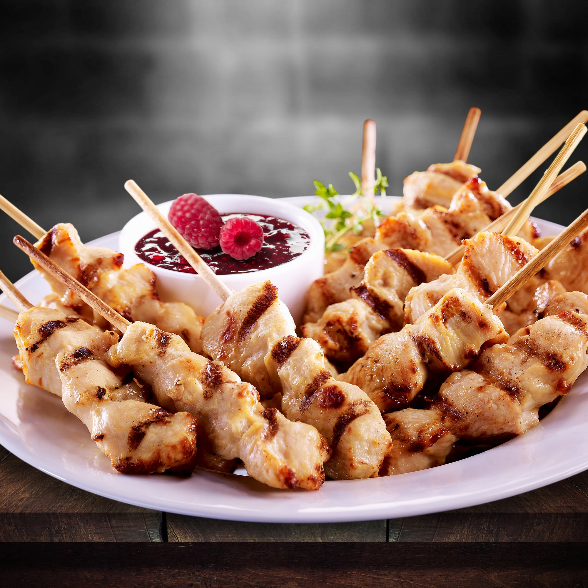 Fully Cooked Chicken Breast Satays