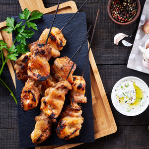 Fully Cooked Seasoned Chicken Thigh Skewers