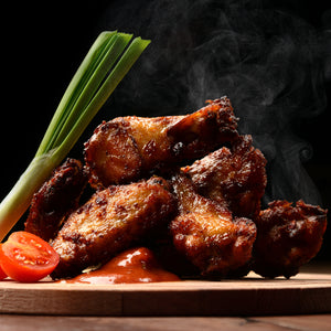 Fully Cooked Grilled Seasoned ABF CHICKEN WINGS Rotisserie Style (Premium)
