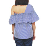 BETINA one-shoulder ruffled top