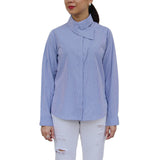 LARA overlapped collar longsleeve top