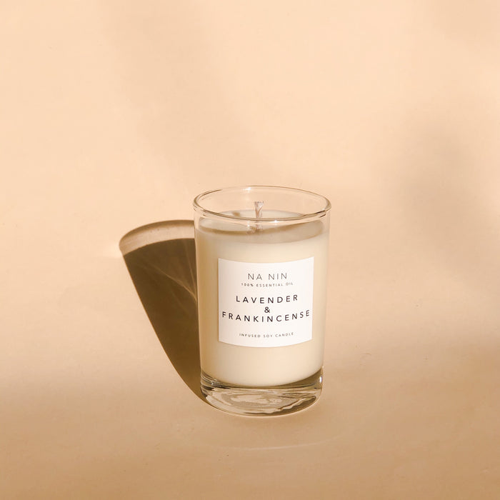 NA NIN Lavender & Frankincense Essential Oil Candle- 5oz