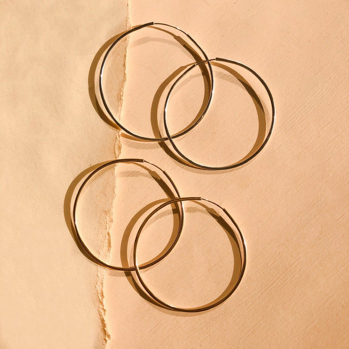 Day Hoops Large in Gold Fill or Sterling Silver