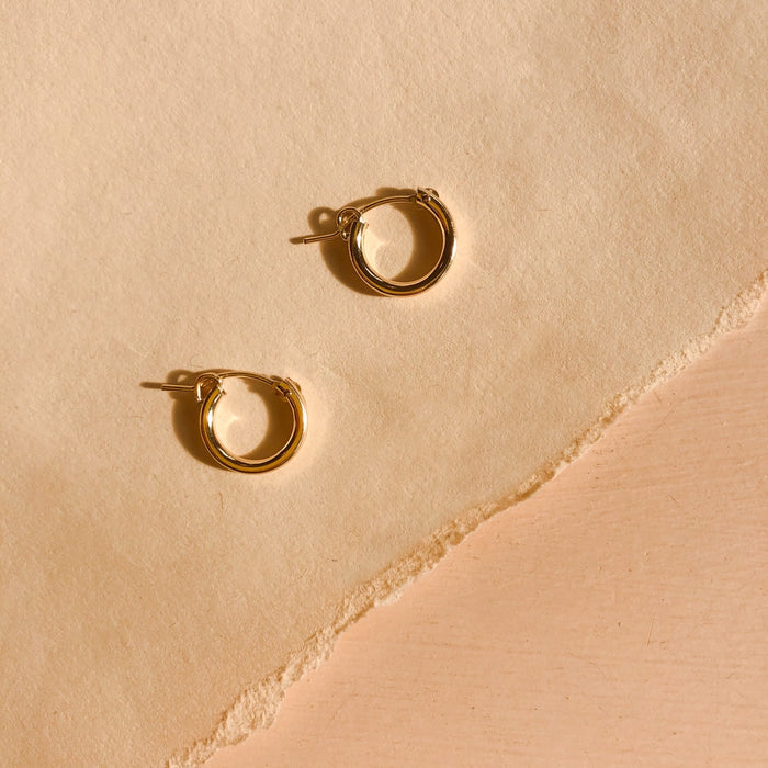 Highlow Small Gold Fill Hoops
