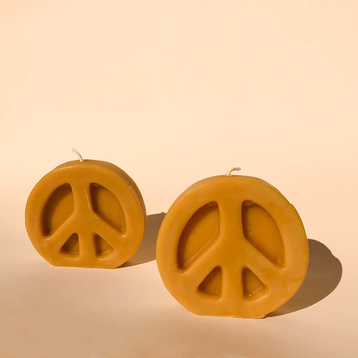 Beeswax Peace Sign Candles