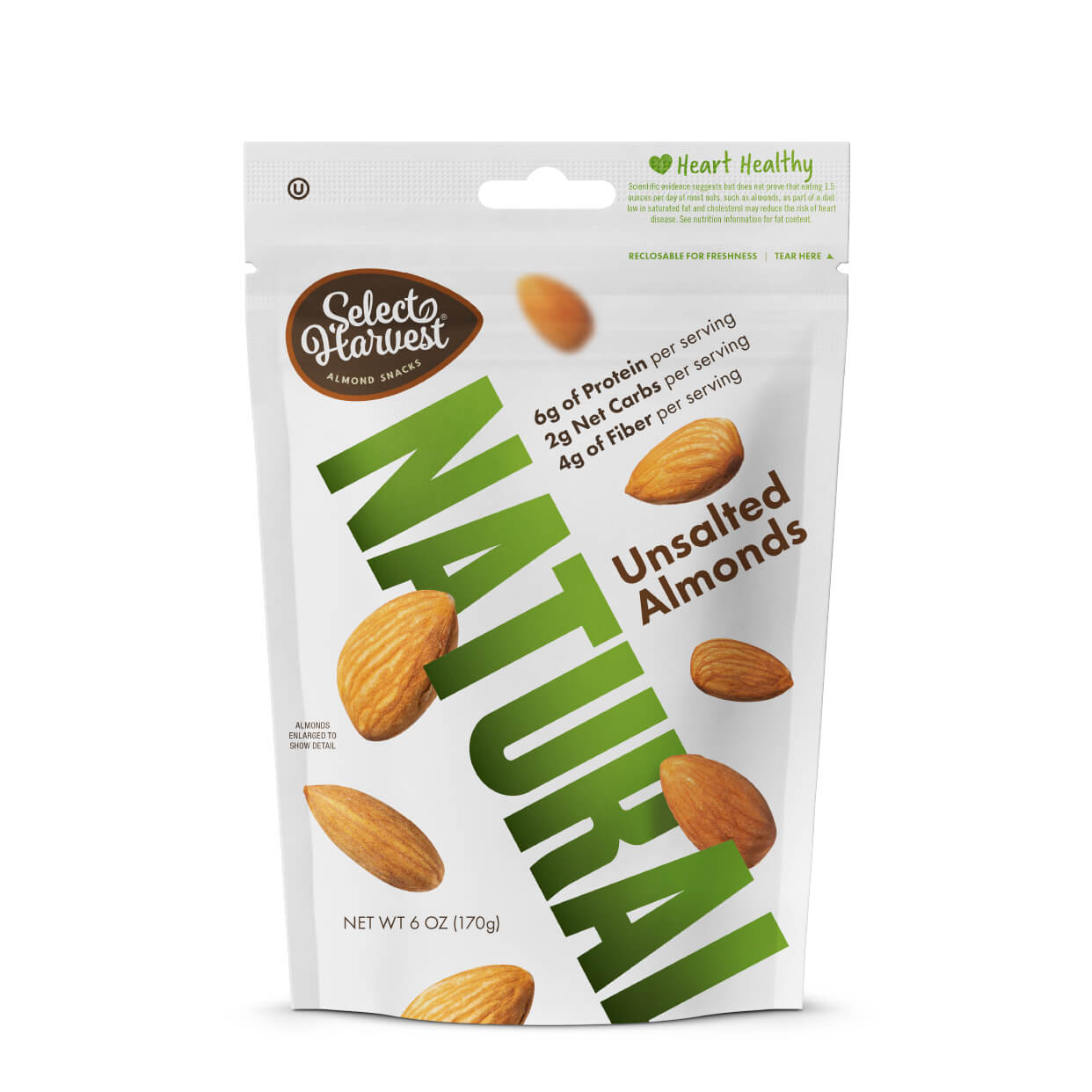 Natural Whole Almonds, unsalted