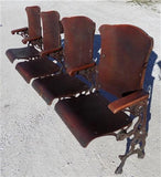 4 Wood Folding Theater Seats, Auditorium Seats, Entryway Bench, Theatre Seats a4