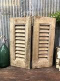 Small Antique Farmhouse Shutter, Natural Wood Shutter Architectural Salvage A37,