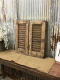 Small Vintage Farmhouse Shutters, Rustic Wooden Window Shutter, Shutter Door A62