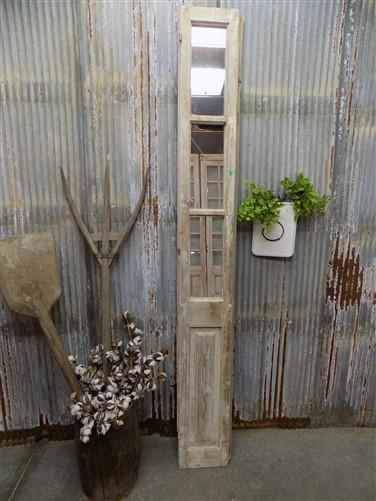 Antique French Mirrored Door, Architectural Salvage Mirrored Wall Panel O,