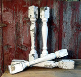4 Balusters White Wood Architectural Salvage Spindles Porch Post House Trim A3,