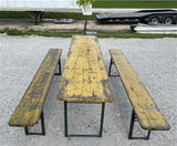 Vintage German Beer Garden Table and Benches, Oktoberfest Picnic Table B15,
