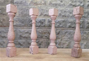 4 Balusters Painted Wood Architectural Salvage Spindles Porch House Trim C,