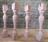 4 Balusters Painted Wood Architectural Salvage Spindles Porch House Trim H,