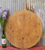 Xlarge Vintage Round French Bread Board, Wood Cutting Board, Charcuterie D50,