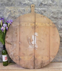 Xlarge Vintage Round French Bread Board, Wood Cutting Board, Charcuterie D67,
