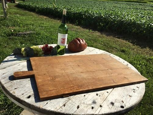 Large Vintage French Bread Board, Rectangle Bread Board, Wood Cutting Board G3,