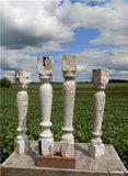 4 Balusters Painted Wood Architectural Salvage Spindles Porch House Trim A10,