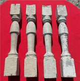 4 Balusters Painted Wood Architectural Salvage Spindles Porch House Trim A22,