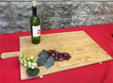Large Vintage French Bread Board, Rectangle Bread Board, Wood Cutting Board G35,
