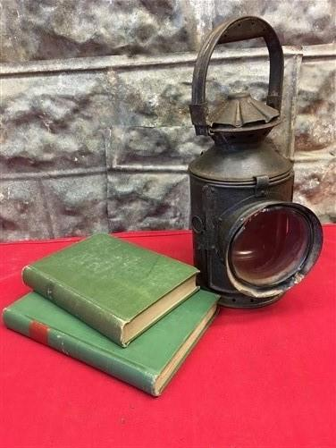 Railroad Signal Lantern, Train Railroad Lamp, Clear Lens, Industrial Decor f