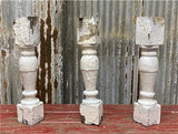 3 Balusters Painted Wood Architectural Salvage Spindles Porch House Trim A38,