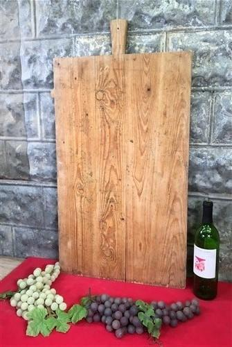 Large Vintage French Bread Board, Rectangle Bread Board Wood Cutting Board F123,
