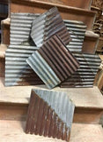 7 Pcs Corrugated Weathered Barn Tin Farmhouse Architectural Salvage Vintage E,