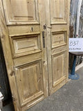 Thick Molding, Antique French Double Doors, European Doors, Tall Pair B37