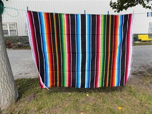 84 x 60 Southwestern Blanket Serape Indian Mexican Rug Saltillo Throw Blanket e