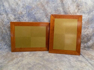 Pair 27 x 21 Table Tops Wood Edged Laminate Drawing Board Vintage Restaurant e