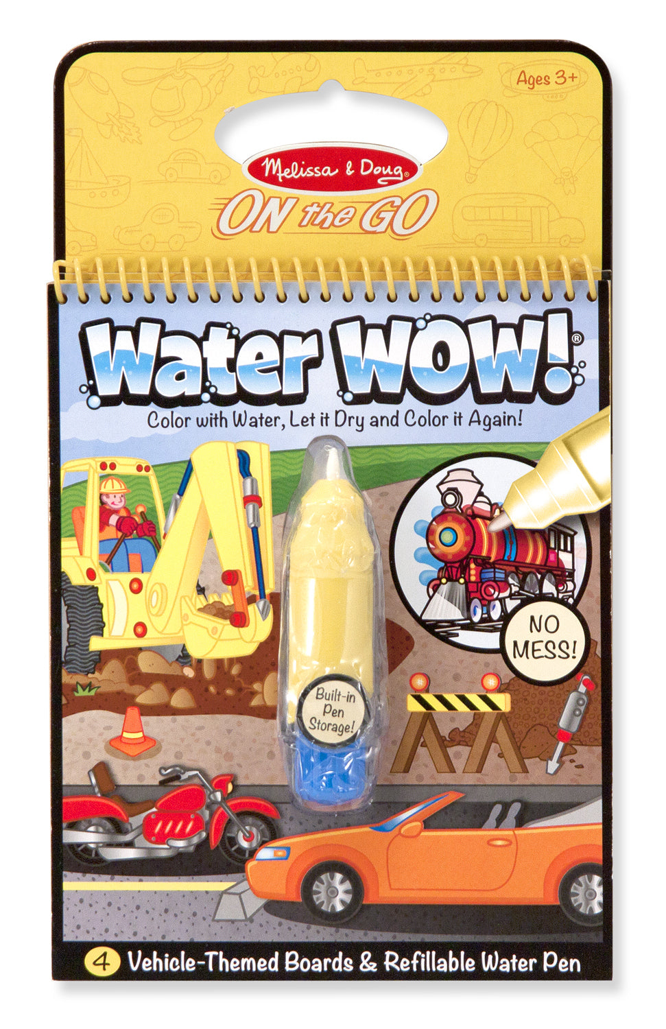 Melissa & Doug: Water Wow! Vehicles Travel Activity Book