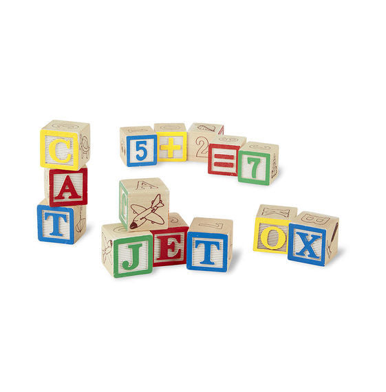 Melissa & Doug: Wooden ABC/123 Blocks Set