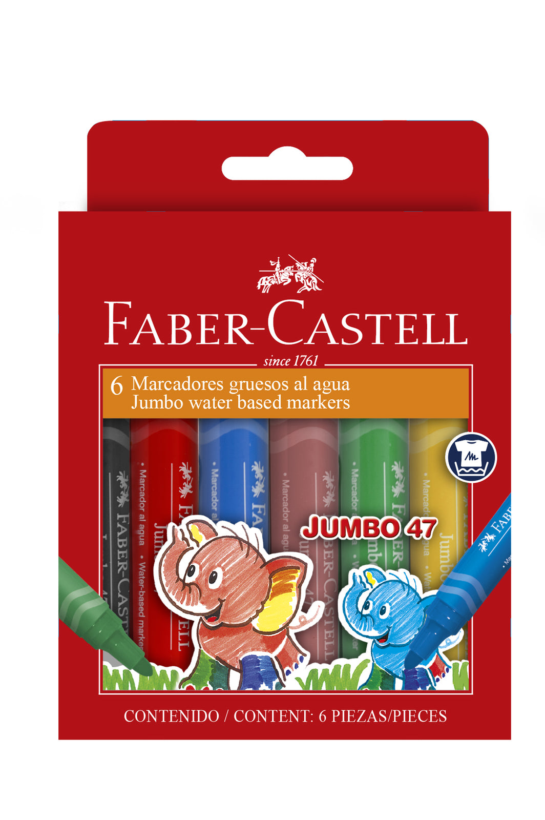 Faber-Castell: Jumbo Fibre Tip Markers - Wallet of 6