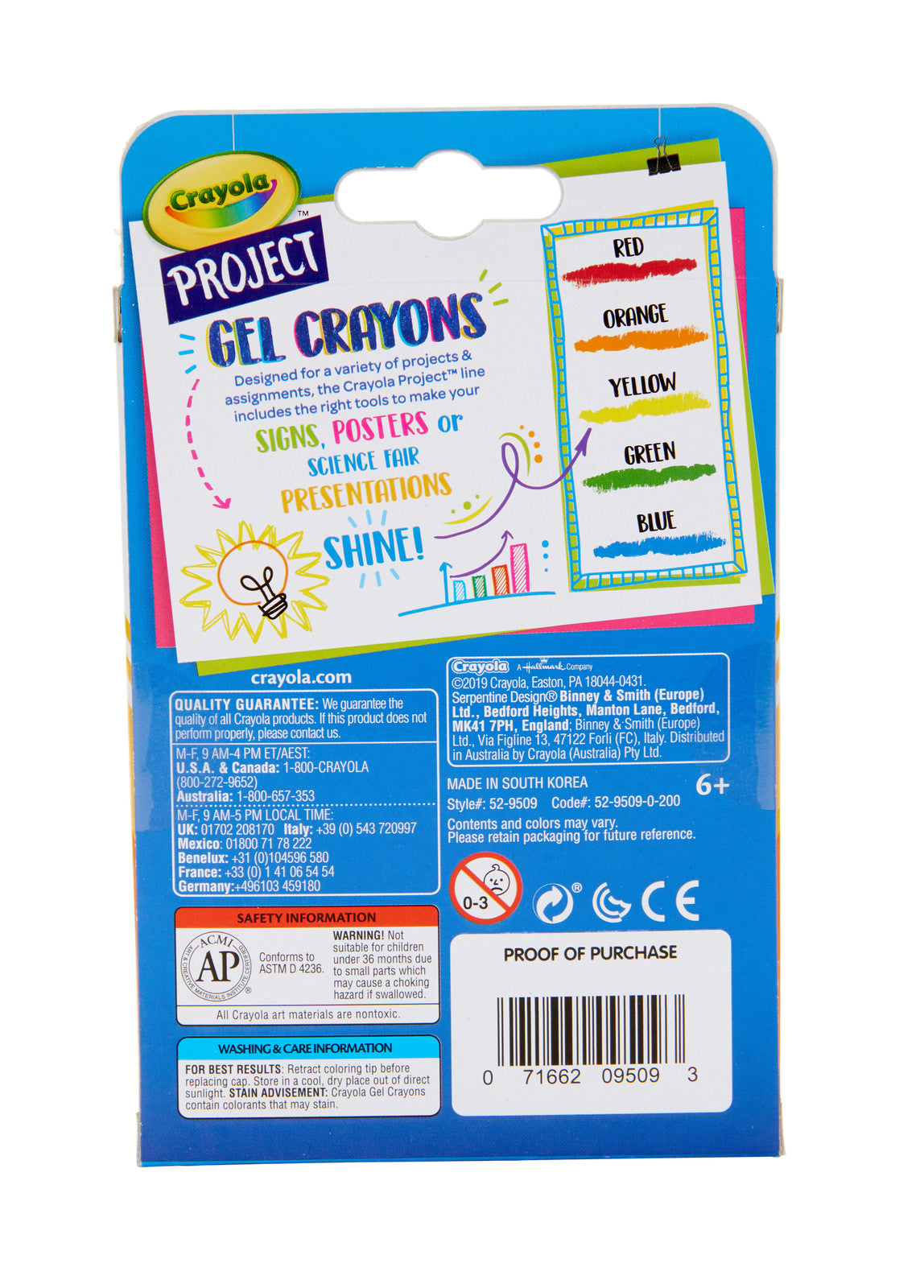 Crayola: Project - Gel Crayons (5-Pack)