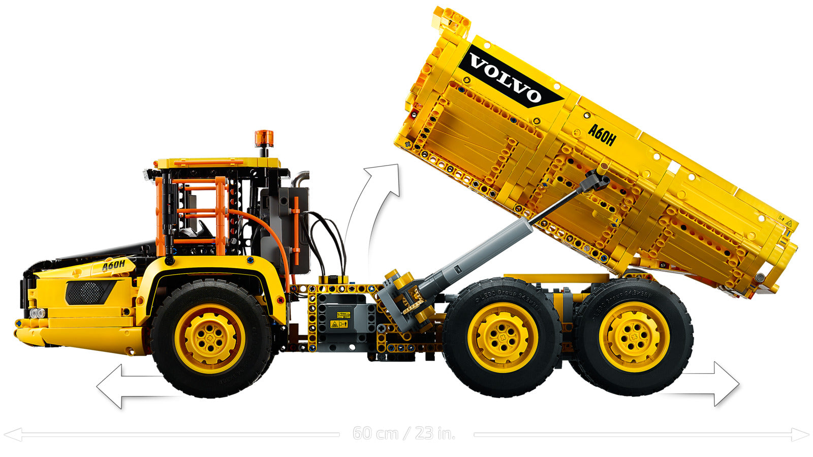LEGO Technic: 6x6 Volvo Articulated Hauler (42114)