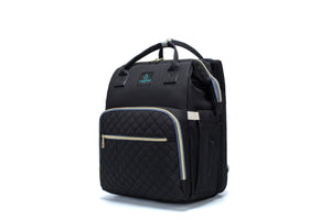 7 in 1 Premium Diaper Bag - Black