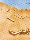 Strategic wargame El-alamein 1942 map