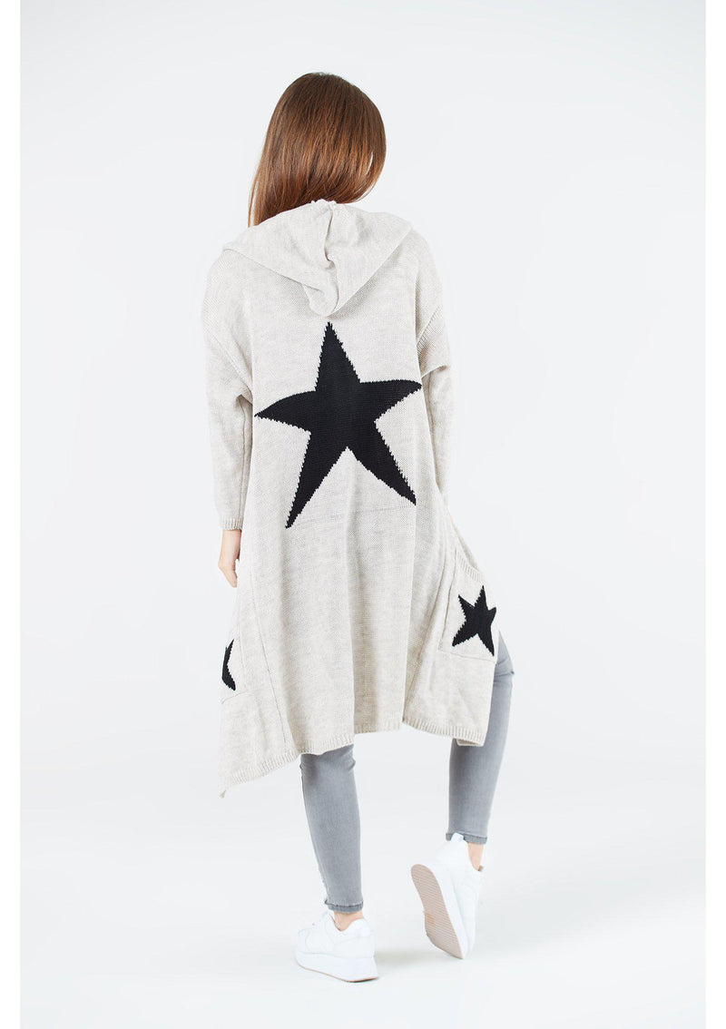 Star Maxi Hooded Cardigan